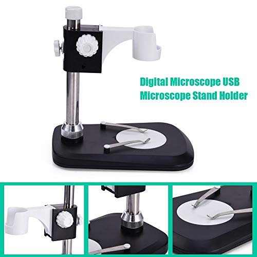 ABS + Metal Microscope Stand Workbench Raising Lowering Stage Holder Portable USB Digital Electronic Table Microscopes