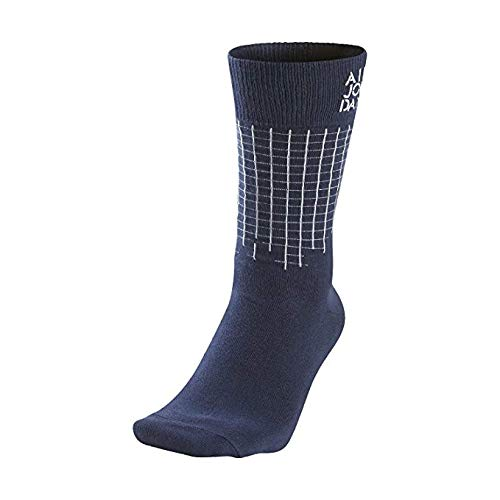 Nike [642207-410] AIR Jordan Stencil Crew Sock Accessories Socks AIR JORDANNAVY Blue Grey (Jordan Stencil)