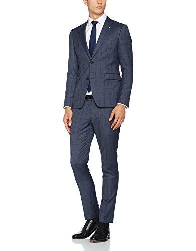 ESPRIT Collection Herren Anzug 097EO2M005 Blau (Navy 400), 48 (Blaue Slim-fit-anzug)
