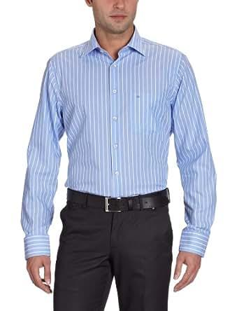 Seidensticker Herren Businesshemd 184240, Gr. 41, Mehrfarbig (13 (Streifen blau)