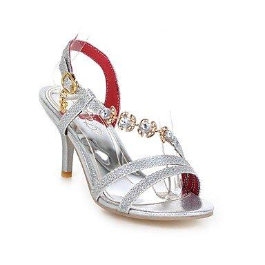 Sandales Pour Femmes Rtry Summer Comfort Pu Sportswear Part & Amp; Soirée Talon Stiletto Boucle Cristal Or Argent Rouge Marche Us5.5 / Eu36 / Uk3.5 / Cn35