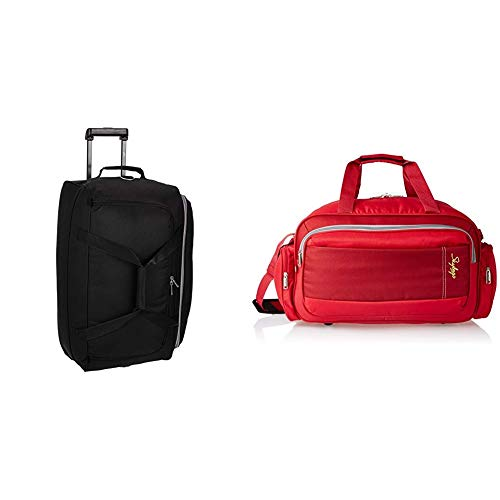 Skybags Cardiff Polyester 62 cms Black Travel Duffle + Cardiff Polyester 55...