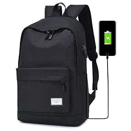 GDMXYD Business Rucksack,Reise Laptop Backpack mit Türkis-Futter, Laptop Tasche, Daypack und Tagesrucksack für Männer und Frauen Wasserabweisend Nylon Slim Rucksack