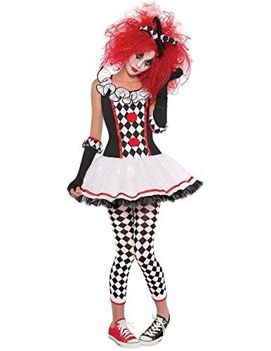 Imagen de disfraz payaso arlequín adolescente halloween  de 14 a 15 años