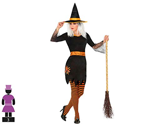 Atosa-31908 Atosa-31908-Disfraz Bruja para Mujer Adulto-Talla, Color naranja M-l (31908