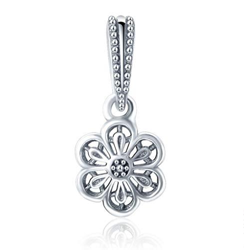 Zxx jewelry pendenti in cristallo perline pendenti con charms in argento sterling 925 con zirconi incastonati
