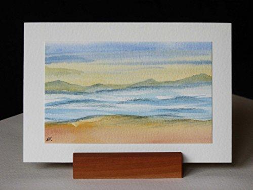 Postkarte + Briefumschlag / Landschaft No 16 / Unikat / Aquarellkarte