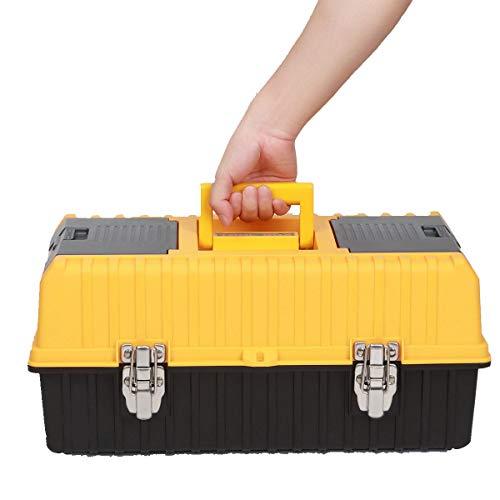 OCGIG 53,3 cm 3 Etagen gefaltet Tool Box Organizer Kunststoff Tragbarer Organizer Tool Box Aufbewahrung Lösung