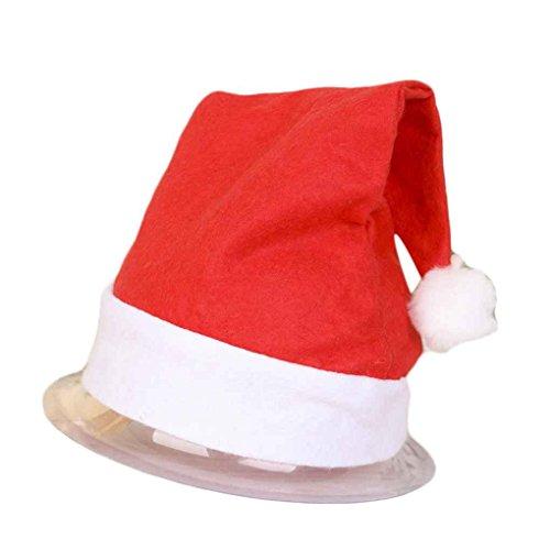 offizielle Plüsch Santa Claus Hut & Komfort Liner Weihnachten Halloween Kostüm Erwachsene (Weihnachten Hüte Für Erwachsene)