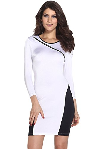 E-Girl femme Blanc SY21259-1 robe de cocktail Blanc