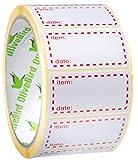 500 x Gefrieretiketten auf Rolle, Selbstklebend Haushaltsetiketten, Größe 50x25mm Datum Etiketten