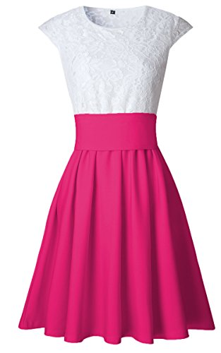 ECOWISH -  Tailleur gonna  - Donna rosso rose