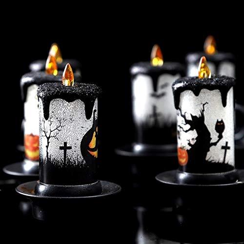 BTKNOO Luces de Velas LED de Halloween Decoraciones de Mesa de Chimenea...
