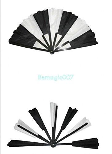 Abanico Roto Grande Bicolor (Negro y Blanco)