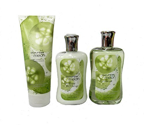 Bath & Body Works Signature Collection Cucumber Melon Gift Set ~ Body Cream ~ Shower Gel & Body Lotion. Lot of 3 by Bath & Body Works - Cucumber Melon-gel