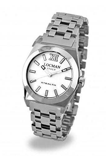 Montre Locman Femme 020400mwfnk0br0au quartz (Batterie) acier Quandrante Nacre Bracelet Acier