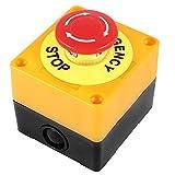 Trifycore Pulsante di Arresto di Emergenza Pulsante di Arresto di Emergenza Interruttore a Pressione Passare Hard Case 660V 10A AC Rosso di plastica, Accessori