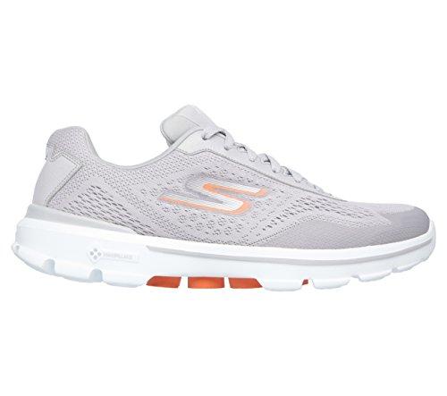 Skechers prestazioni Go Passeggiata 3 Reazione Walking Shoe Grigio chiaro/arancione