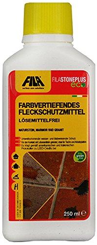 Fila STONEPLUS ECO Farbvertiefendes Fleckschutzmittel für Marmor, Granit, Naturstein, Feinsteinzeug 250 ml. für bis zu 10 qm