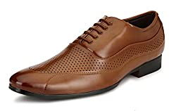 Mactree Mens Tan Artificial Leather Lace Up Shoes-20184-9