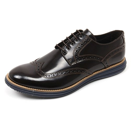 C3720 scarpa inglese uomo GOLD BROTHERS marrone scuro shoe man Marrone scuro