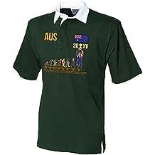 """Ganadores de la Copa del Mundo 20x v (actualizado 2015versión) """"Evolución de Rugby Adulto Camiseta De Rugby"""