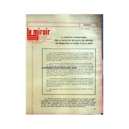 MIROIR DE L'INFORMATION DE LA PUBLICITE ET DES RELATIONS PUBLIQUES (LE) [No 208] du 08/12/1961