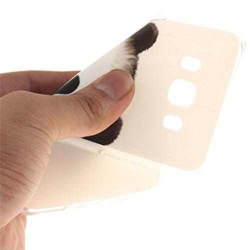 ANNN® Samsung Galaxy J510 J5 2016 Silicone Case TPU Cover - Etui de Protection Cas en caoutchouc en Ultra Slim Souple Gel TPU Bumper Cas Case + Quill stylet + Pendentif poisson---TX11 A17
