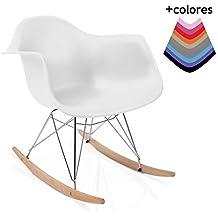 duehome Rocker - Silla Mecedora, Patas de Madera Haya, sillas balancin, Silla diseño