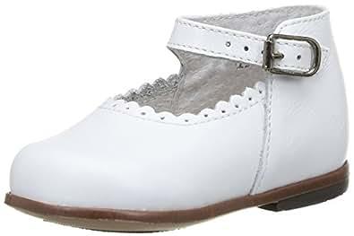 Little Mary Vocalise, Chaussures Premiers pas bébé fille, Blanc (Vachette Blanche), 18 EU