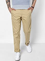 Monte Carlo Brown Solid Regular Fit Trouser