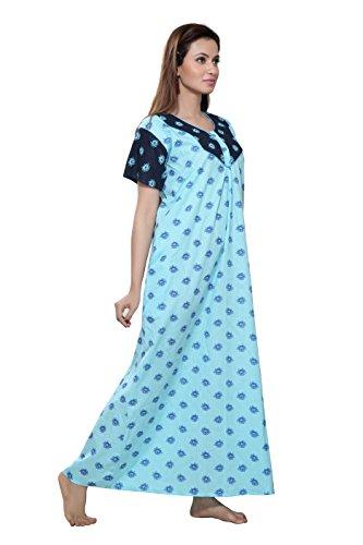 d0c28b9db 44% OFF on TUCUTE Women Cotton Premium Nighty Nightwear Nightdress Night  Gown with Beautiful Floral Design. Dark Blue on Amazon