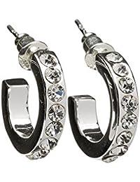 Snö of Sweden Women Stainless Steel Hoop Earrings - 542-6000256 Jn4u6am