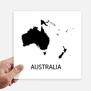 DIYthinker Australia, Oceania Continente Silhouette Mappa Piazza Adesivi 20cm parete Valigia Laptop Motobike Decal 4 pezzi 20 cm x 20 cm