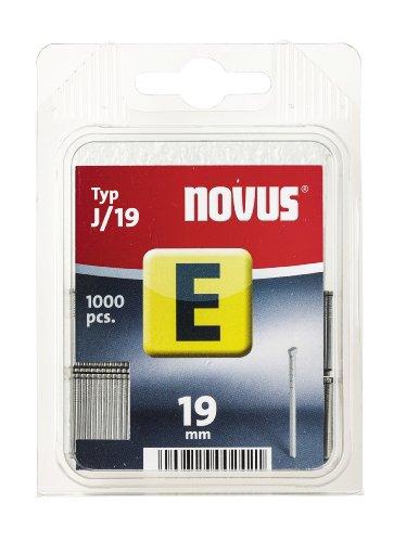 Novus Nägel 19 mm, mit 1000 Nägeln vom Typ J/19, optimales Heftmittel zur Befestigung von Zierleisten und Eckleisten