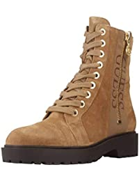 GUESS Stiefel Highheels Jeans Blau Braun #455 (38