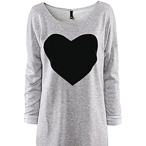 Fortan Las mujeres del amor del corazón Impreso Manga larga de la blusa