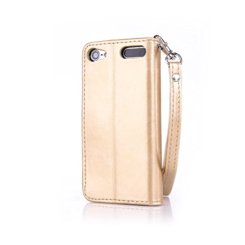 Voguecase® für Apple iPhone 6/6S 4.7 hülle,(Feder/Grau) Kunstleder Tasche PU Schutzhülle Tasche Leder Brieftasche Hülle Case Cover + Gratis Universal Eingabestift Gold Schmetterling/Gold