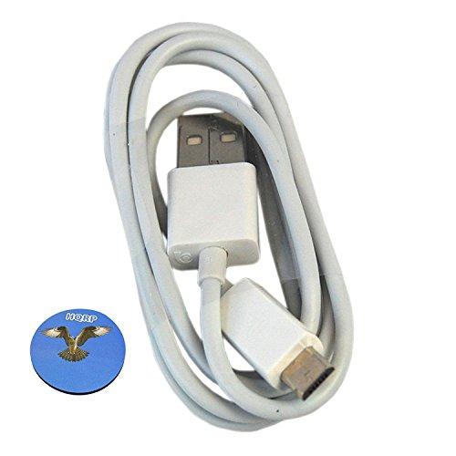 HQRP USB Ladekabel (weiß) für Anker SoundCore Nano / Mini / Sport / PowerCore+ Mini / Astro E1 / Anker LC90 / LC40 / LC130 plus HQRP Untersetzer