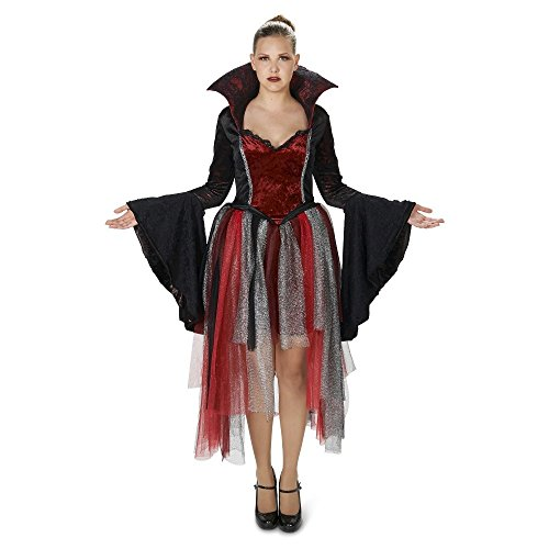 Queen of Hearts Vampire Damen Fasching Halloween Karneval Kostüm (Medium) (Hearts Halloween Queen Of)