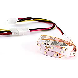 CSL - Bande Flex LED | Case Modding | Longueur : 60cm | SMD-LEDs en Rouge/Red / luminosité élevée | Verso Autocollant