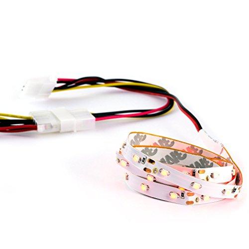 CSL - Nastro flessibile a LED | Case Modding | Lunghezza: 60cm | LED SMD in rosso/red / alta luminosità | retro autoadesivo