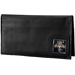 NHL Florida Panthers Genuine Leather Deluxe Checkbook Cover