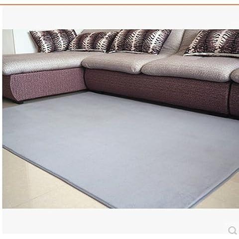 Vellón Coral moderno alfombras antideslizantes,gris plata,200*300cm.