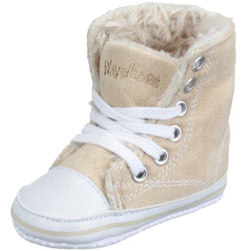 Playshoes Baby Canvas-Turnschuhe, trendiger Stoff Sneaker, gefüttert und rutschhemmend, mit Playshoes-Motiv gestickt
