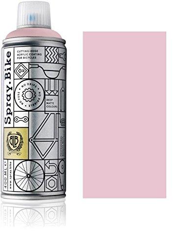 """Fahrrad Lackspray in versch. Farben - KEINE GRUNDIERUNG notwendig - Acryllack / Lack Spray in 400 ml Spraydose, Matt- und Klarlack Optik möglich (Rosa """"Superbe"""", Matt)"""
