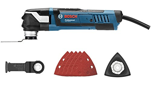 Preisvergleich Produktbild Bosch Professional GOP 40-30 Multi-Cutter, 400 W Motor, Starlock Schleifplatte AVZ 93 G, StarlockPlus fähig, 1 Stück, 0601231005