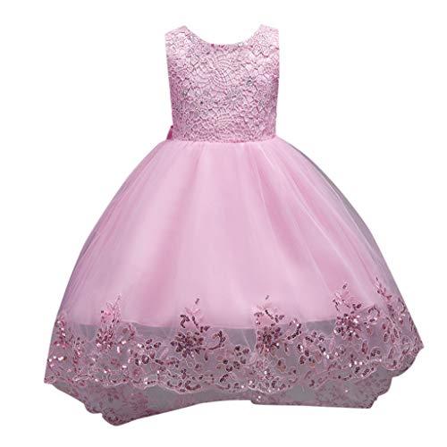 Pink Supergirl Outfit - Realde--Baby Mädchen Ärmellos Mesh Bow Midi