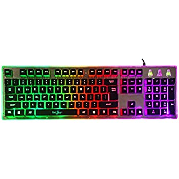 Redgear Grim Semi Mechanical RGB Backlit Keyboard  with Floating Key Cap and Double Injection keycaps for PC
