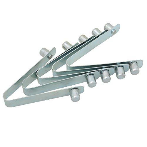 SaniMomo 5pcs Kajak Paddel Druckknopf Federclip, Zeltstange Clips Single/Double Pins - Silber, 9mm x 12mm